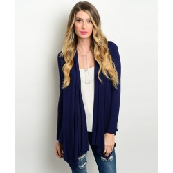 NAVY WHITE CARDIGAN