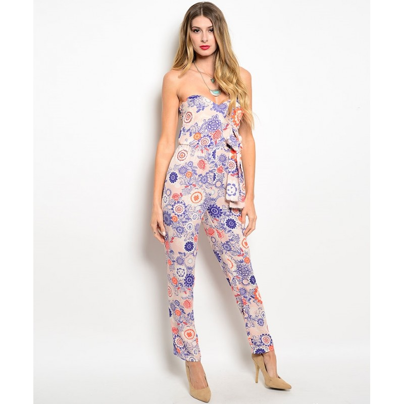 great deals great variety styles 2019 real PINK FLORAL JUMPSUIT - G-boutik